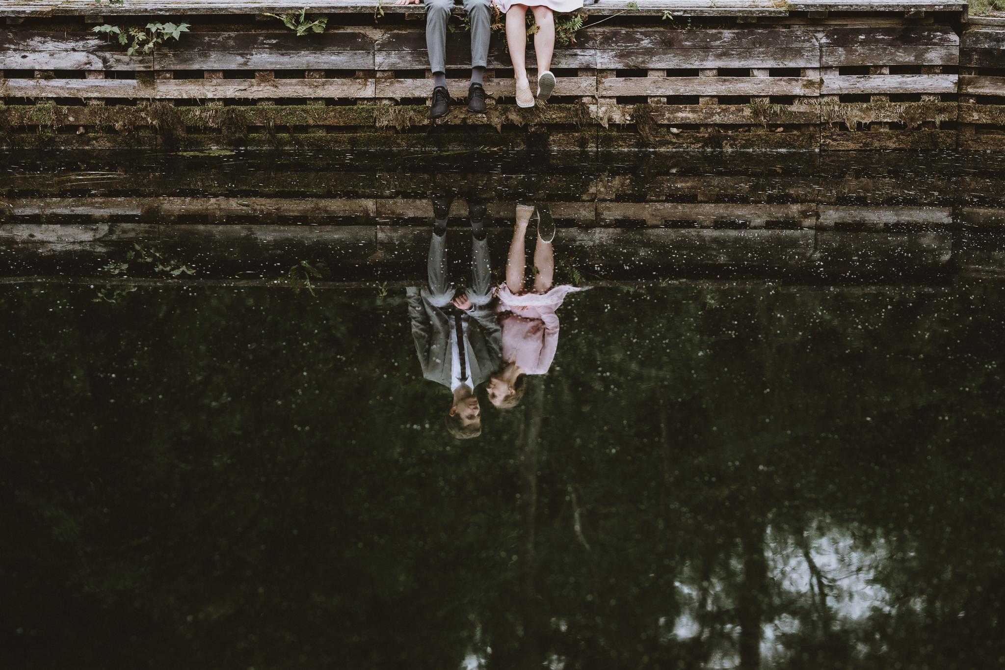 pruut ja peigmees, peegeldus veekogul